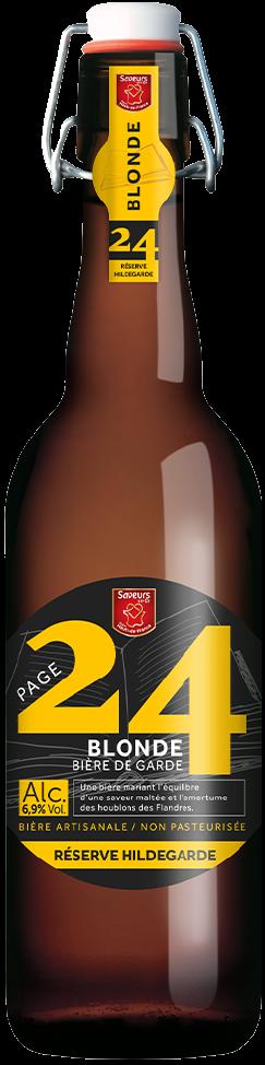 bière blonde hildegarde en 75 cl