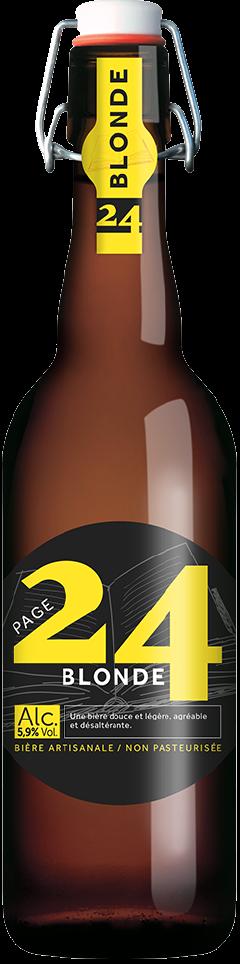 bière blonde en 75 cl