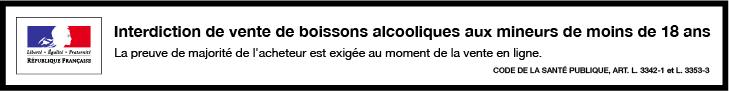 Interdiction de vente d'alcool aux mineurs